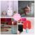 テブル置き加湿器ファンファンライトファン三合一ミナミ加湿器usb加湿器七夕祭りプレゼント彼女の奥さんに誕生日プレゼントピンク+夜灯+扇風機