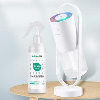 ヘナミニ携帯型USB加湿器+次亜塩素酸家庭用洗浄スプレー消毒液